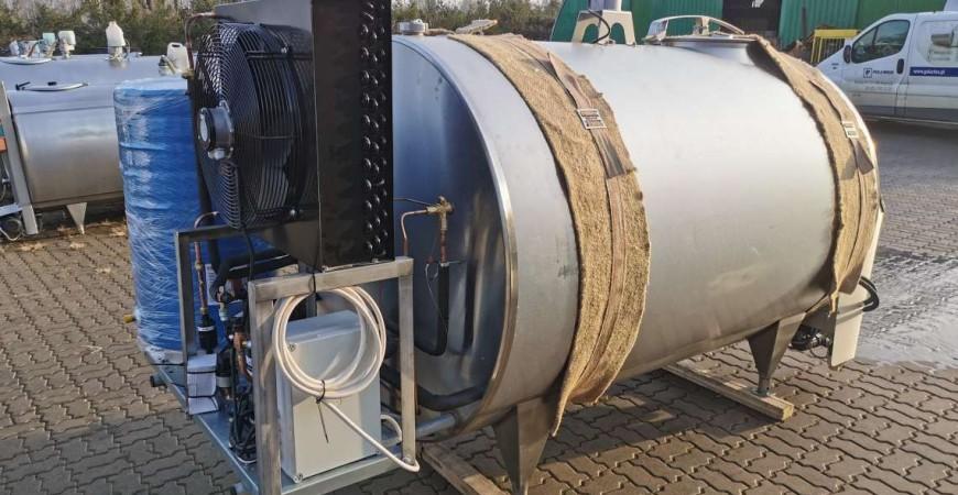 Schładzalnik do mleka PRO-INOX w wersji kompakt 2000 L / 100 L odzysk ciepła